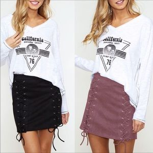 Dresses & Skirts - Lace up mini skirt